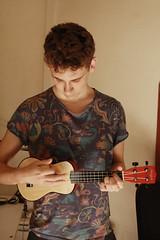 Ukulele (MordorPotato's Photography) Tags: boy portrait musician music man model ukulele hipster player ukelele