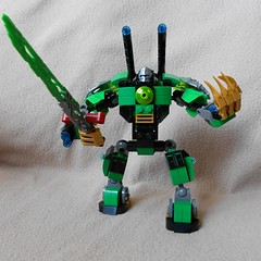 Green Hornet (Stoo73) Tags: green robot lego suit fantasy hornet mech