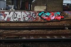 Mear / Cos (Alex Ellison) Tags: urban graffiti boobs railway graff ac gs southlondon cos cosa trackside dds allcity ktc mear gullyside