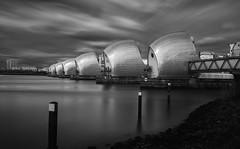 Stillness of Heart-II (Op$y) Tags: london water monochrome thames clouds fineart filter nd barrier daytimelongexposure