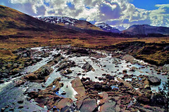 From General Wade's bridge over the upper Spey. (Fr Paul Hackett) Tags: mountain clouds river wade moorland