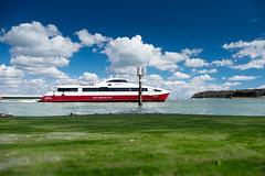 Red Funnel - DSCF7900 (s0ulsurfing) Tags: green ferry clouds fuji april fujifilm isle cowes slipway wight redfunnel 2016 s0ulsurfing xt1