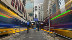 Nicolette Mall Station (Sam Wagner Photography) Tags: sky public station minnesota train mall downtown day gloomy stitch image cities replacement minneapolis twin rainy rush hour transportation lightrail avenue commuters nicolette