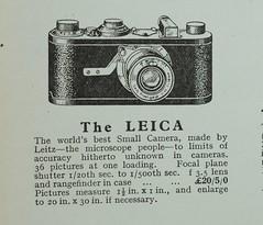 Leica advert 1930 (Roseman's) Tags: leica1 leicai earlyleica leitzadvert