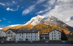 Engadin (ccr_358) Tags: autumn panorama alps fall landscape schweiz switzerland nikon october scenery day view suisse postcard sunny svizzera autunno alpi ontheroad engadin ch cartolina swissalps engadina ottobre mountainscape 2015 graubnden grisons parcnaziunalsvizzer confoederatiohelvetica grigioni grischun swissconfederation d5000 ccr358 nikond5000