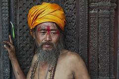Saddhu baktapur (goa974) Tags: nepal portrait people closeup nikon streetportrait holy hinduism sadhu bhaktapur bakhtapur 35mm18 d3100 bhaktapursadhuhinduismholy