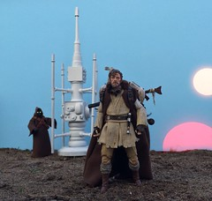 Mythos Obi-Wan as the Suns set. (chevy2who) Tags: 6 black toy star inch action figure series wars custom sideshow mythos obiwan kenobi starwarstoy toyphotography customstarwars customblackseries obiwanmythos blackseriesmythos