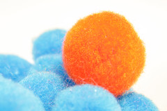 116/365 Fuzzy Balls (telibrium) Tags: blue orange macro vibrant oneofthesethings macromondays