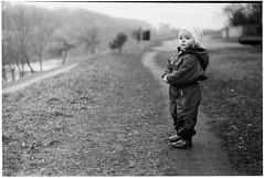 On the road (batuda) Tags: road zorki portrait bw film girl river spring dof bokeh rangefinder d76 jupiter ilford fp4 kaunas zorki6 5017 jupiter3 depthofview miglė šančiai