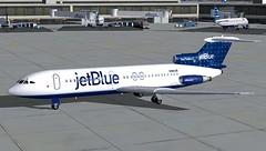 jetBlue Dots Trident 4 KJFK-1 (jonf45 - 2 million views-Thank you) Tags: blue 2004 4 flight jet jetblue jb re dots bae simulator sim fs trident livery fs9 jbu repaint