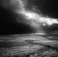 Atmosphere (Zeb Andrews) Tags: ocean light shadow 6x6 film oregon mediumformat landscape blackwhite stormy hasselblad pacificnorthwest oregoncoast analogphotography capekiwanda filmisnotdead hasselblad500c