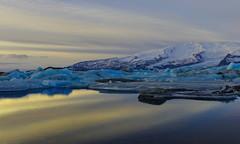 Jokulsarlon Dawning (Marshall Ward) Tags: winter lake reflection sunrise dawn iceland jkulsrln glaciallake 2013 nikond800 afszoomnikkor2470mmf28ged marshallward