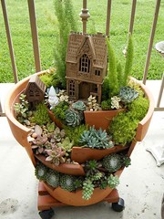Awesome Clay Pot Mini Garden (irecyclart) Tags: garden miniature pots fairygarden