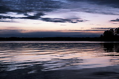 Evening Blues (Jens Haggren) Tags: sunset sea sky seascape water clouds reflections landscape evening sweden silhouettes olympus nacka em10