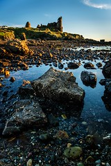 Pebbles, Rocks and Castle (jasonmgabriel) Tags: sea castle beach water rock landscape scotland scenery pebbles ayr dunure
