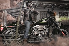 #211. I'm a cowboy, on a steel horse I ride I'm wanted dead or alive (Gui Andretti) Tags: life boy playing man game male men guy bike cowboy zoom country lifestyle moto second swallow fatboy dossier savage boker hoorenbeek argrace turlaccor