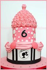 Barbie birthday cake (Tramie's Kitchen) Tags: cake barbie fondant