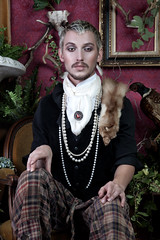 Untitled (estellamasonphotography) Tags: portrait colour pattern editorial renaissance styling malemodel setdesign creativedirection lavish