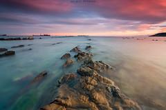 Calma (sergio estevez) Tags: color luz azul marina landscape atardecer mar agua playa paisaje cielo nubes calma algeciras largaexposicin getares tokina1116mmf28 sergioestevez