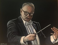 """Ennio Morricone"", ""Composer"", ""Musician"", ""orchestrator"", ""conductor"","" trumpet player"",acrylic on canvas, by Fin Collins, part of The Film Icons Collection www.filmiconsgallery.com (lulu301) Tags: musician conductor composer enniomorricone trumpetplayer morricone acryliconcanvas orchestrator fionnualacollins fincollins byfincollins partofthefilmiconscollectionwwwfilmiconsgallerycom"