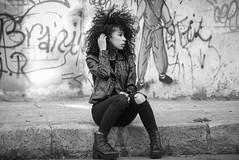 LoLa (aminefassi) Tags: street portrait people blackandwhite bw leather fashion rock noiretblanc retrato tag grunge morocco maroc 5d mode rabat 135mm   135mmf2l  135mmf2 aminefassi lolacastel