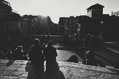 Piazza di Spagna, Roma, Italy (AyaxVII) Tags: plaza city sunset people italy espaa sun streets roma love sol architecture square de atardecer arquitectura italia gente amor steps ciudad escalera spanish di piazza calles spagna d3000