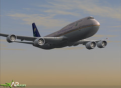 Boeing 747-8 ( eslamelmasre342 ) Tags: airport aviation egypt cargo cairo boeing b747 pmdg saudiarabianairlines b777200 b7478