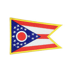 State of Ohio Flag Patch US Embroidered Patch Gold Border Iron On patch Sew on Patch badge Patch (edwardCepheus) Tags: ohio gold iron state flag united border sew patch patches embroidered