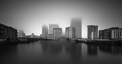 Hidden (vulture labs) Tags: longexposure london fog skyscraper canarywharf 1424mm vulturelabs