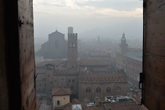 Bologna, veduta dal campanile della cattedrale di San Pietro (Valerio_D) Tags: italy italia emilia bologna 1001nights emiliaromagna 1001nightsmagiccity 20152016inverno