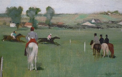 Degas, At the Races in the Countryside (detail), 1869