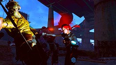 Extra from the Nexus - Fallout 4 (Beth Amphetamines) Tags: pink wallpaper woman green out gold screenshot eyes technology hand power super ironman redhead prototype synth armor knockout scifi punching glowing mutant x01 lipstick cyborg companion deepinthought commonwealth futuristic pondering lizzy wasteland advanced lightblue cybernetic follower unmanned n7 plated themeaningoflife pipboy standalone lighton fallout4 vaultsuit