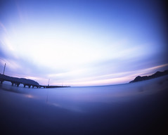 sea,sunset (shikihan) Tags: longexposure sunset sea sky japan handmade pinhole velvia chiba 4x5 fujichrome tincan tomiura
