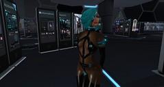 Cyber_Kit_Neurolab_022416_010 (Carla Putnam) Tags: blue woman black sexy girl female hair sl secondlife future futuristic cyber cybernetic erotixc neurolab cyborgirl
