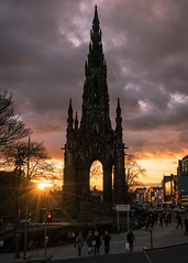 Scott Monument at Dusk (mjbryant007) Tags: sunset scotland edinburgh dusk february lothians scottmonument 2016 visitscotland february2016