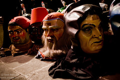 Capgrossos (Jobopa) Tags: barcelona winter festival spain traditions catalonia bigheads catalan bighead mataro 2016 capgros capgrossos santaeulalia