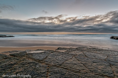 Rock Ledge (darrinwalden Photography) Tags: ocean beach rock clouds coast sand sydney australia barnacles