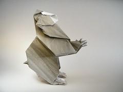 Japanese Macaque - Fumiaki Kawahata (Rui.Roda) Tags: japanese monkey mono origami macaco papiroflexia singe macaque kawahata fumiaki papierfalten