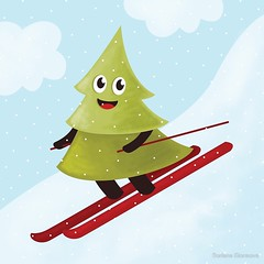 Skiing pine tree (borianag) Tags: winter snow ski tree pinetree season skiing skier hsppy