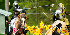 (Paul Cory) Tags: lighting camera people horse man male season lens spring unitedstates availablelight northcarolina naturallight event armor weapon lance shield combat joust chathamcounty geolocation canoncamera canonlens storybookfarm camera:make=canon exif:make=canon exif:isospeed=800 canon300f4lis canon5dmkiii exif:lens=ef300mmf4lisusm exif:focallength=300mm exif:aperture=40 exif:model=canoneos5dmarkiii camera:model=canoneos5dmarkiii festivaloflegends festivaloflegends4