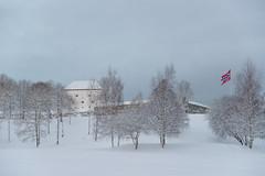 Festningen Kristiansten Fortress (GeirSH) Tags: winter norway norge vinter trondheim kristiansten festning sn smbergan