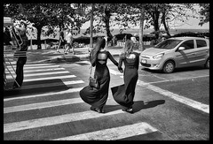 Crossing over (in many respects) ! (FimRay) Tags: street people blackandwhite bw monochrome thailand blackwhite scene monotone transgender thai sexchange transsexual ladyboy ladyboys katoey