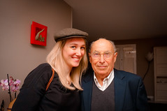 Camille and Her Grandfather (HarveyNewman) Tags: old people woman france hat bald maritime blonde camille granfather charante moeze