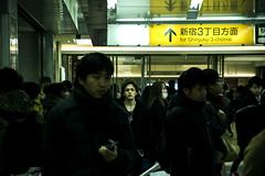 subway ligths (maubri) Tags: street city travel people urban station japan underground subway photography japanese tokyo nikon shinjuku metro trainstation  nippon  giappone  reportage  yrakuch  shibuja  ajpscs tokyounderground kinoi  kaifudo