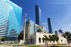 Old vs. new, Abu Dhabi (domingo_95) Tags: world new old city vacation building tourism skyline architecture skyscraper canon mall holidays cityscape skyscrapers united capital uae sightseeing center mosque tourist emirates arab vs abu dhabi tamron trade 1024 60d