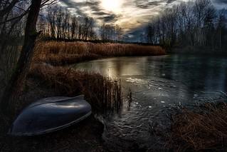 A lake in hibernation