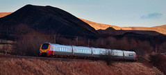 Life On Mars (whosoever2) Tags: uk greatbritain railroad red mars sunshine landscape scotland nikon unitedkingdom railway trains tip gb planet voyager dumfriesgalloway vigin spoil class221 d7100 crawick 221142