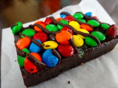 M&M brownie