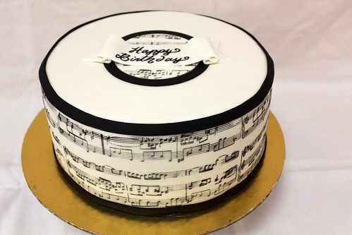Sheet Music Designer Cake