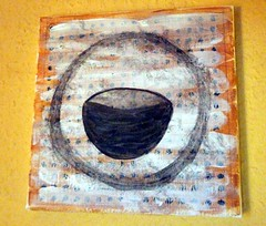 First attempt with acrylic paint (LaWendeltreppe) Tags: art cup painting acryl schale